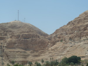 Mt Temptation. Enlarge to view the Monastery of the Temptation of Christ