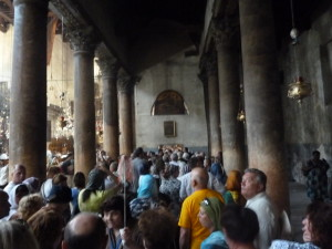 The queue to the grotto. It took us 2 hours and 15 minutes