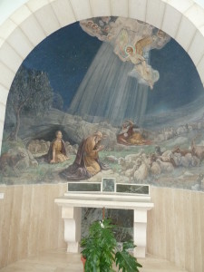 Inside the Chapel of Angels