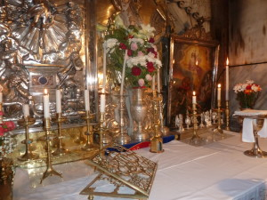 Right inside the Tomb of Jesus where we celebrated mass