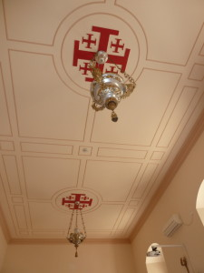 The Jerusalem Cross on the ceiling in St Pater's